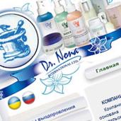 Создание сайта для продажи косметики Dr. Nona