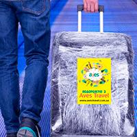 Печать наклеек на багаж для туроператора