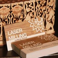 Дизайн и печать визитки для лазерной резки по дереву