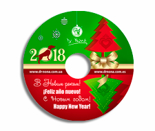 Дизайн и печать на диске для компании Dr. Nona