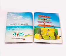 Печать логотипа Aves Travel на обложке загранпаспорта