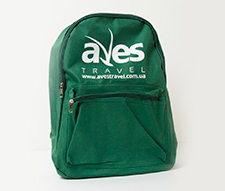 Шовкодрук логотипу на рюкзаку