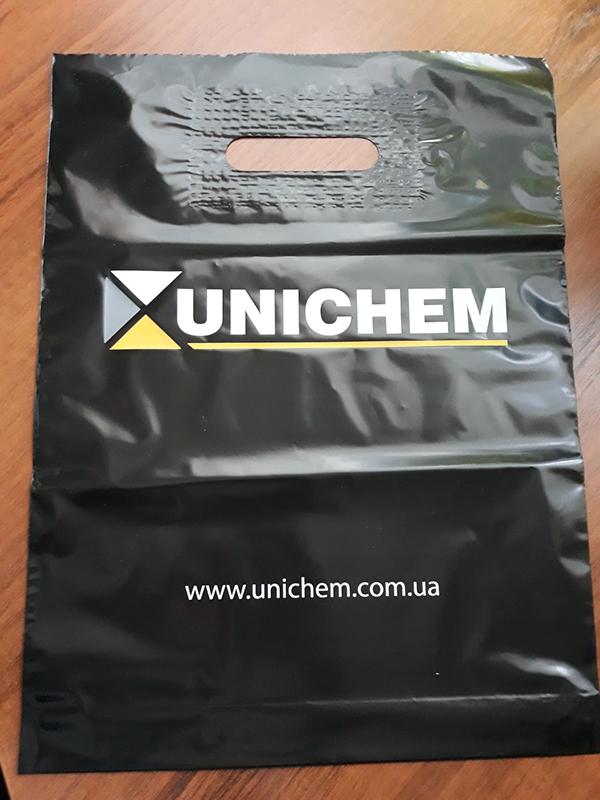 Дизайн и печать на пакетах 30х40 см, для Unichem